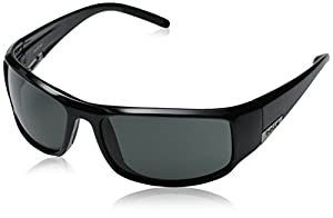 Bolle King Sunglasses, Shiny Black with Polarized T Lens