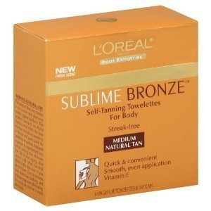L'Oreal Paris Sublime Bronze Self-Tanning Body Towelettes, 6-Count (Pack of 2)