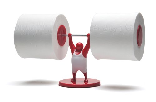 Mr T Designed Strong Man Weightlifter Bathroom Toilet Paper Tissue Roll Holder Red Coconuas104
