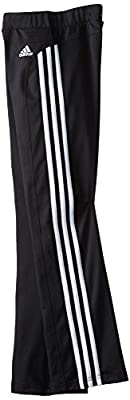 adidas Girls' Yoga Pant White Stripes