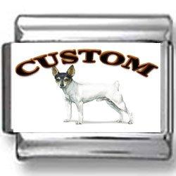 Toy Fox Terrier Dog Custom Photo Italian Charm