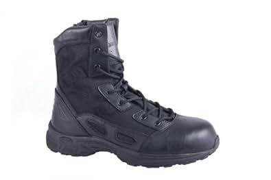 Men's Converse 8 inch Velocity UltraLite Side - zip Composite Toe Combat Boots, BLACK, 14W