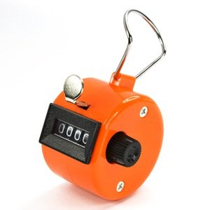 Bluecell Orange Color Handheld Tally Counter 4 Digit Display for Lap/sport/coach/school/event