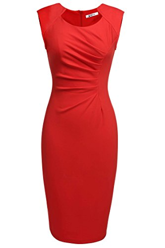 ANGVNS-Stylish-Women-Casual-Sleeveless-High-Waist-Knee-length-Party-Dress
