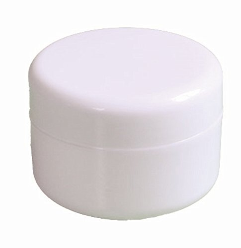 4oz New Empty High Quality White Plastic Jar with Dome Lid Cosmetic Containers 6 pk Mini Jar (4 Oz White Plastic Jar compare prices)
