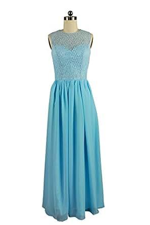 Amazon.com: Charmingbridal New Sleeveless Lace Prom Dress ... - photo #8