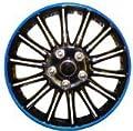 """15 Zoll Schwarz mit blauem Nadelstreifen-Car Radkappen Radzierblenden BOOSTER 15 """" von Motionperformance Essentials bei Reifen Onlineshop"""