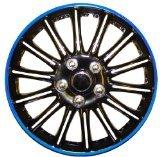 """14 Zoll Schwarz mit blauem Nadelstreifen Car Radkappen Radzierblenden Booster 14 """" von Booster - Reifen Onlineshop"""