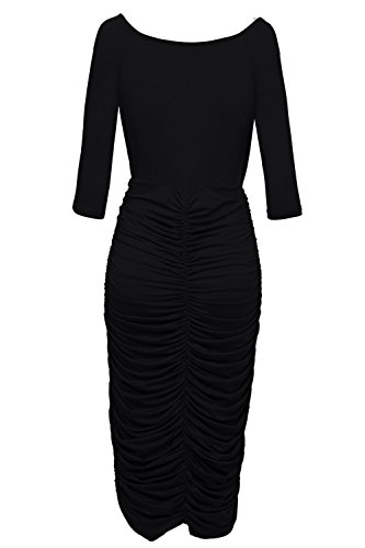 VIISHOW-Womens-Plus-Size-Deep-V-Neck-Wrap-Ruched-Waisted-Bodycon-Dress