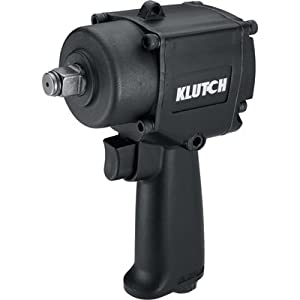 Klutch Heavy-Duty Compact Air Impact Wrench - 1/2in. Square Drive