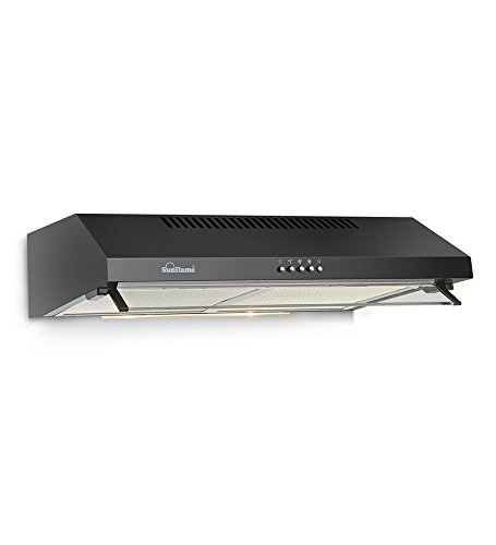SUNFLAME AVEO DX 60CM BAFFLE FILTER- BLACK KITCHEN CHIMNEY/ HOOD