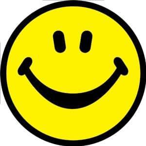 Amazon.com: Sticker - Smiley Face - Retro 70s Design: Automotive