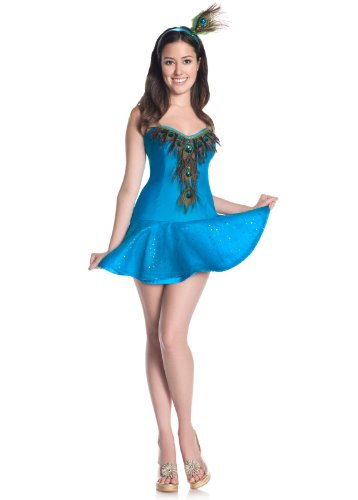 Mystery House Costumes Teen Peacock, Blue, Small