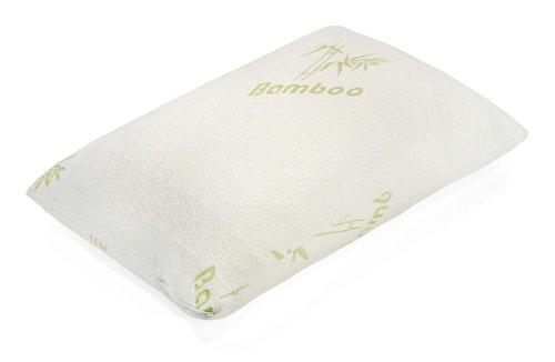 Hotel Comfort Bamboo Covered Memory Foam Pillow-Queen front-1059073