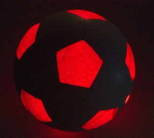 Light Up LED Soccer Ball - Uses 2 Hi-Bright LED Lights