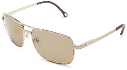 Zegna SZ3281-8FFP Mens SZ3281-8FFP Grey Gold Brown Sunglasses