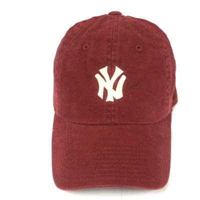NEW YORK YANKEES GARMENT WASHED BURGUNDY HAT CAP ADJ at Amazon.com