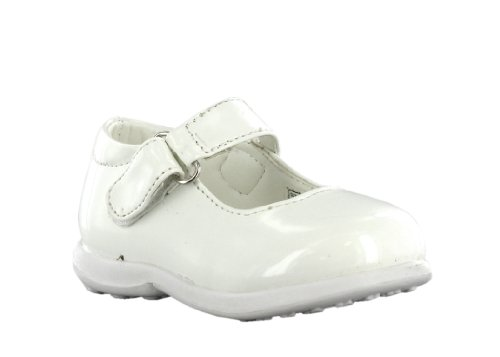 Celia Girl's Carly Dress Shoe (Toddler) Size 8 White/White