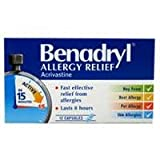 Benadryl Allergy Relief Capsules 12