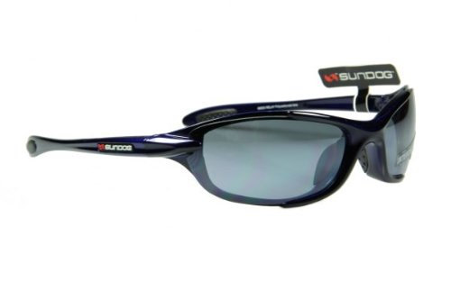 Sundog Relay Blue Sunglasses With Three Pairs Of Interchangeable Water Repellent Hydrophobic Lenses offering 100% UVA/B/C protection for all lighting conditions. Suitable for all outdoor sport activities in all weather conditions