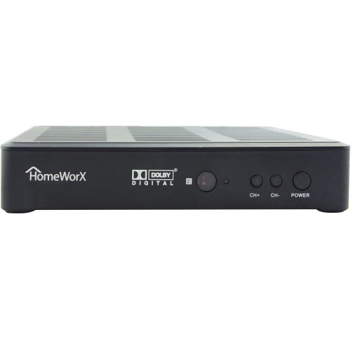 HomeWorX HW180STB HDTV Digital Converter Box with Media Play