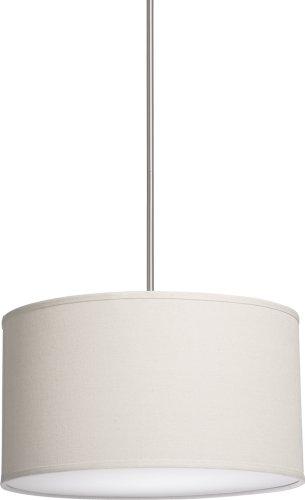 Artcraft Lighting Sc521Wh Mercer Street Small Round Chandelier, White With White Linen Shade