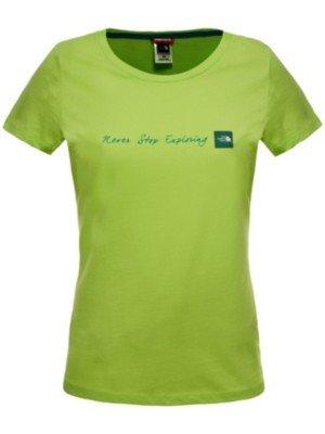 The North Face-Secondo le donne s Never Stop Exploring, innesto Maglietta a maniche corte, taglia L, verde
