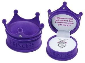 DM Merchandising - Pink Petite Princess Crown Necklace in Figural Gift Box - 2 Pack, Purple