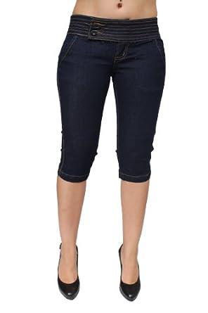 Pasion Jeans Super Sexy Stretch Push-Up Bermuda / Capri PJ5-C-7318BLU (5)