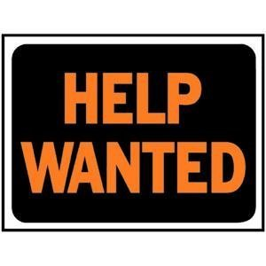 Hy Ko 3034 Plastic Help Wanted Sign 9 x 12 Home Garden