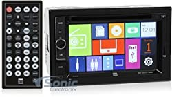 See Dual DV604I Double DIN In-Dash DVD Receiver w/ 6.2