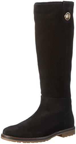 tommy-hilfiger-damen-w1285endy-12b-langschaft-stiefel-schwarz-black-990-40-eu