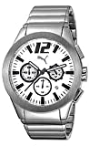 Puma Bracelets Tire Silver-tone Steel White Dial Men's watch #PU101961007