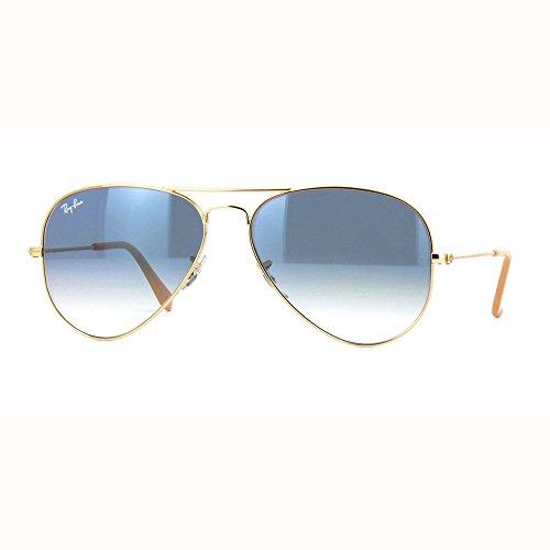 Ray-Ban - Aviator Large Metal, Occhiali da sole, unisex, gold 001/3f 55, 55