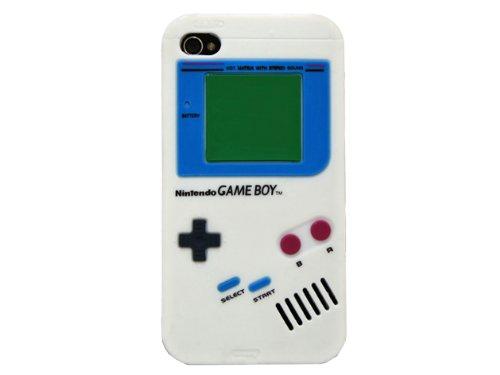 iPhone4 / 4S 用 ソフトシリコンケース GAMEBOY (ホワイト)