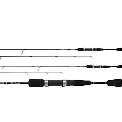 Daiwa CFE662MHFB Medium Heavy Crossfire Rod (2-Piece), 6-Feet 6-Inch, Black