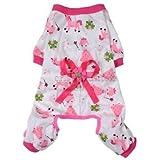 Alcoa Prime Cute Cartoon Design Dog Pajamas Puppy Cat Apparel Jumpsuit Costume Pink S