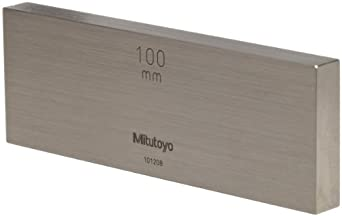 Mitutoyo Steel Rectangular Gage Block, ASME Grade K, Metric