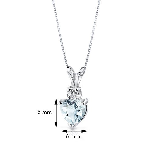 14-Karat-White-Gold-Heart-Shape-075-Carats-Aquamarine-Diamond-Pendant