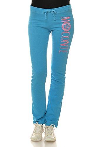 M.Conte Women Sweat Pants Donne Pantaloni in Felpa sportivi Rosita Reale Blu Taglia L