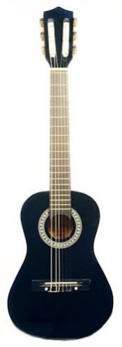 Barcelona 34-Inch 3/4-Size Nylon String Classical Acoustic Guitar – Black