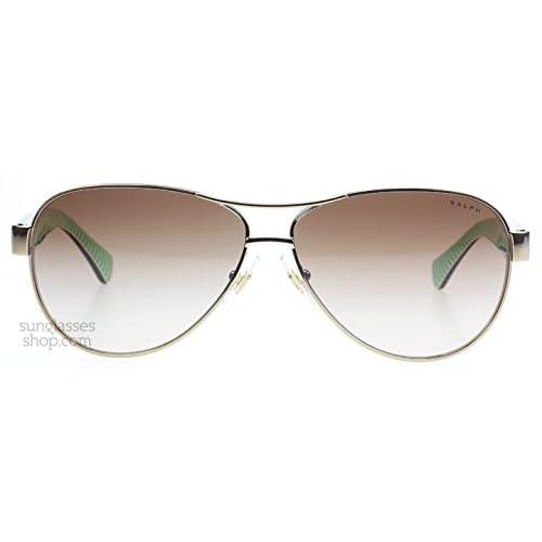 Ralph 4096 101 13 Gold Cream Brown 4096 Aviator Sunglasses Lens Category 3