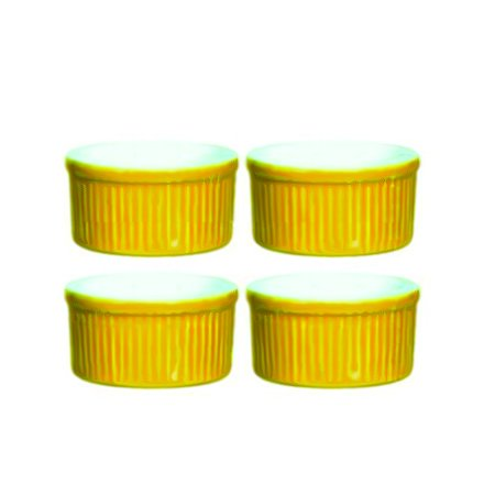 Emile Henry 6-Ounce Ramekin, Set of 4, Citron Yellow