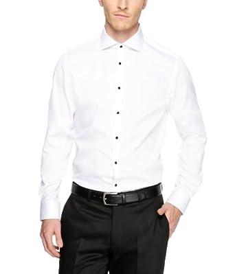 s.Oliver SELECTION Herren Businesshemd 12.311.21.8485, Gr. 42, Weiß (0100)