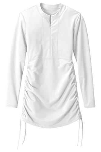 Obosoyo uv sun protection long sleeve women 39 s swimming for Uv long sleeve shirt womens