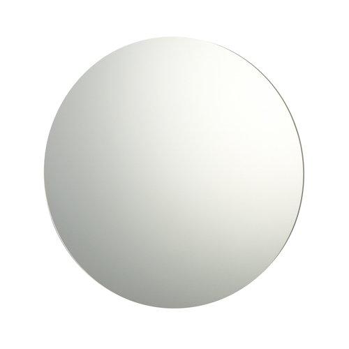 60cm Diameter Plain Frameless Bathroom Circular Mirror with Wall Fixings
