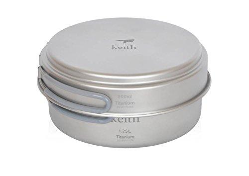 Titanium Pot Camping Cookware Camping Pot 800Ml+1250Ml 237G front-422524