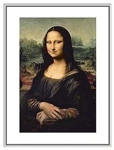 Mona Lisa Leonardo Da Vinci Framed Art Print Canvas Texture 11 x 14 inches