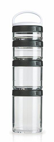 BlenderBottle GoStak Twist n' Lock Storage Jars, 4-Piece Starter Pak, Black (Go Stack Containers compare prices)
