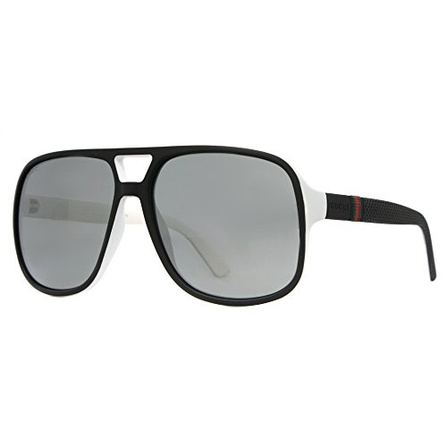 Sunglasses Gucci 1115/S 0M1X Black White / T4 black mirror lens
